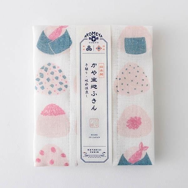 AKOMEYA TOKYO 廚布 粉紅飯團圖案