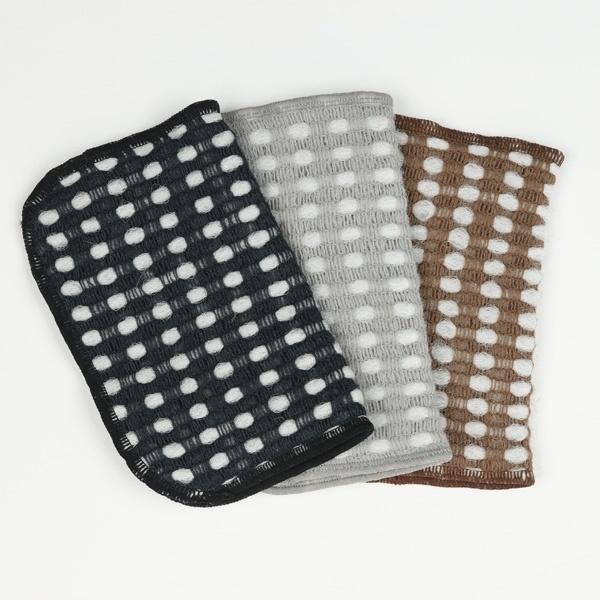 AKOMEYA TOKYO 起泡碗布3件裝(黑、灰、啡色)