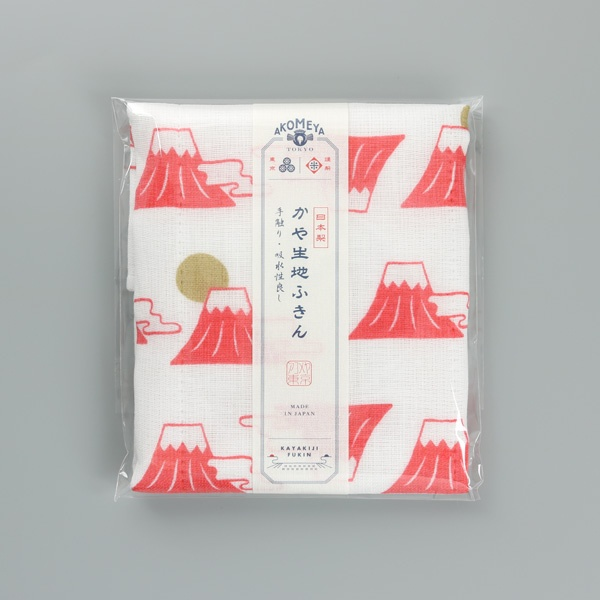 AKOMEYA TOKYO 廚布 富士山 紅色