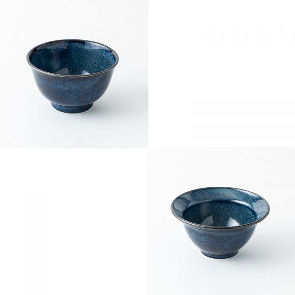 美濃燒 丼飯碗 瑠璃