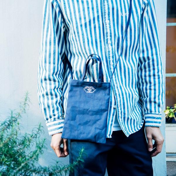 倉敷帆布 × AKOMEYA TOKYO 迷你布袋 藍色